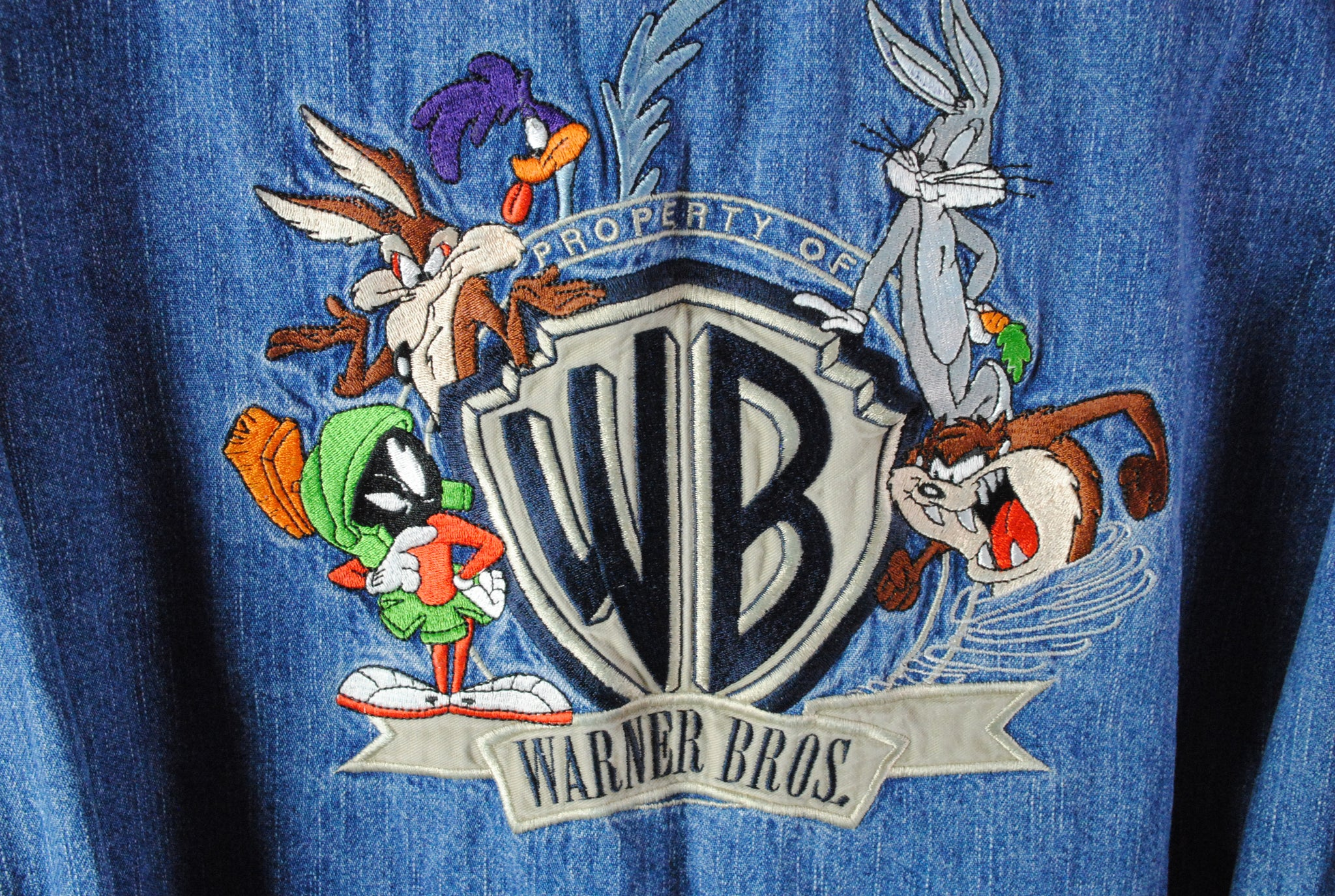 Vintage Warner Bros Denim Shirt XLarge