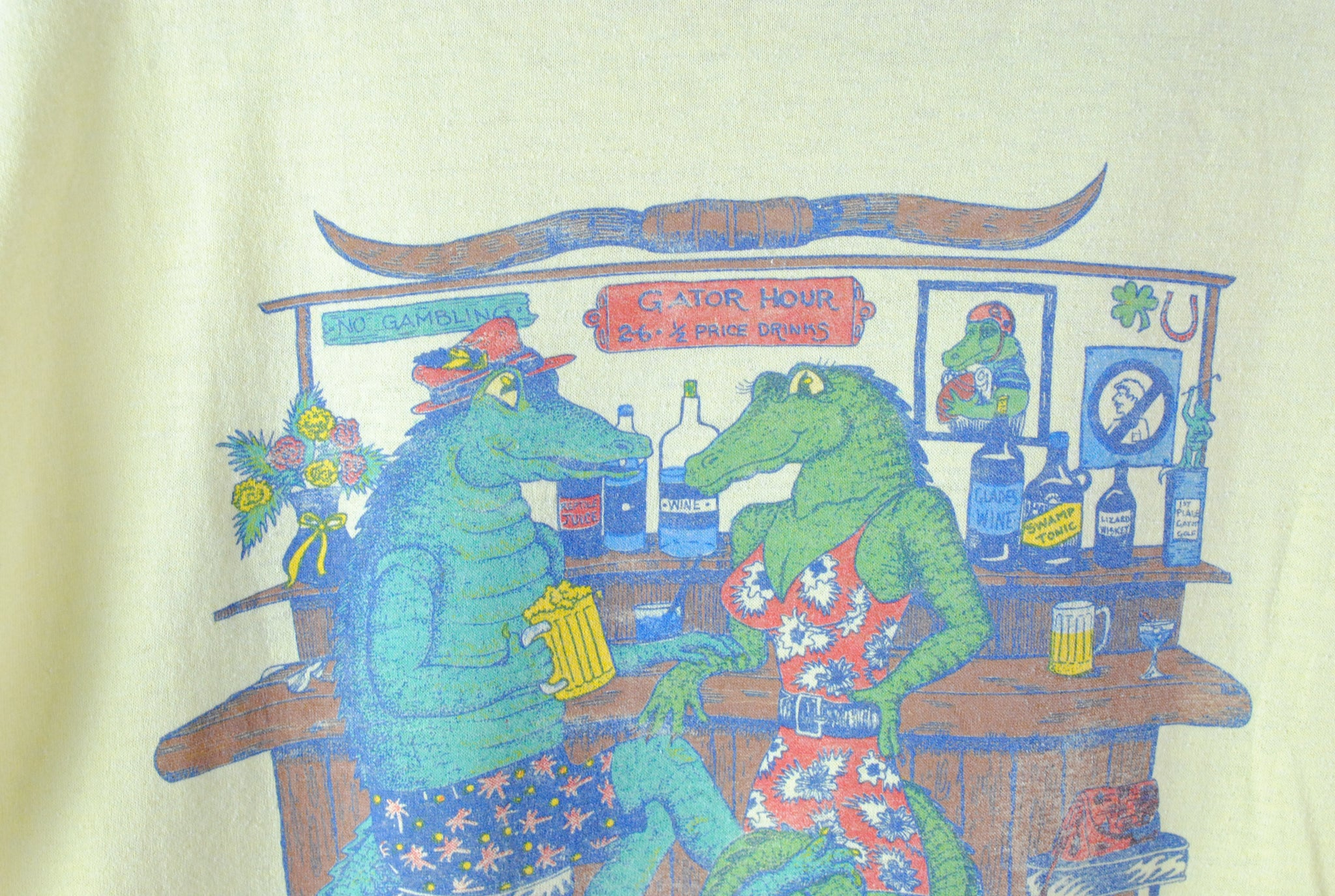 Vintage Sammy Gator Florida 1989 T-Shirt Large
