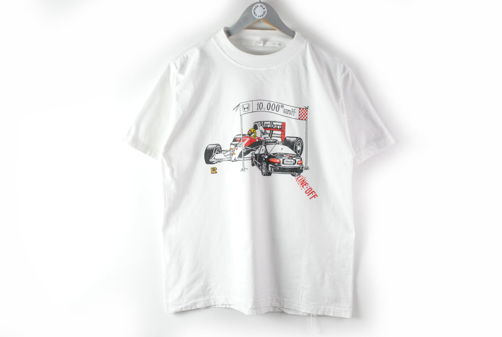 Vintage Honda Marlboro T-Shirt Medium / Large civic and bolid 90s cotton white big logo tee Formula 1