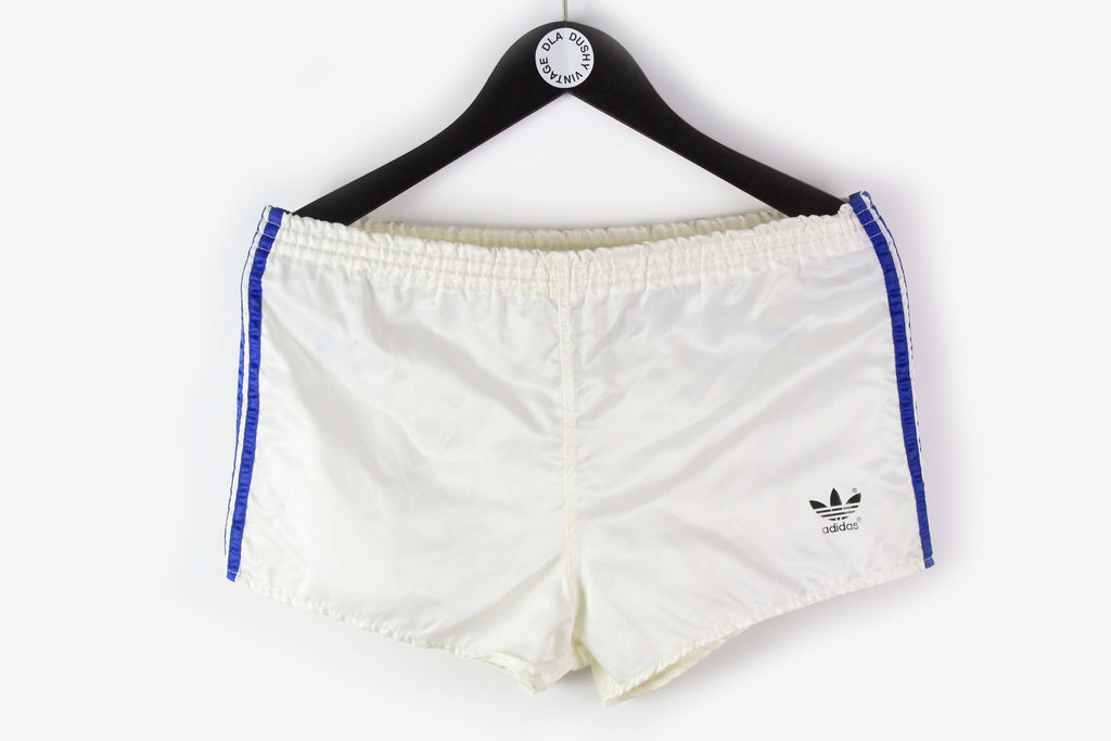 Vintage Adidas Shorts Large white blue 90s made in west germany