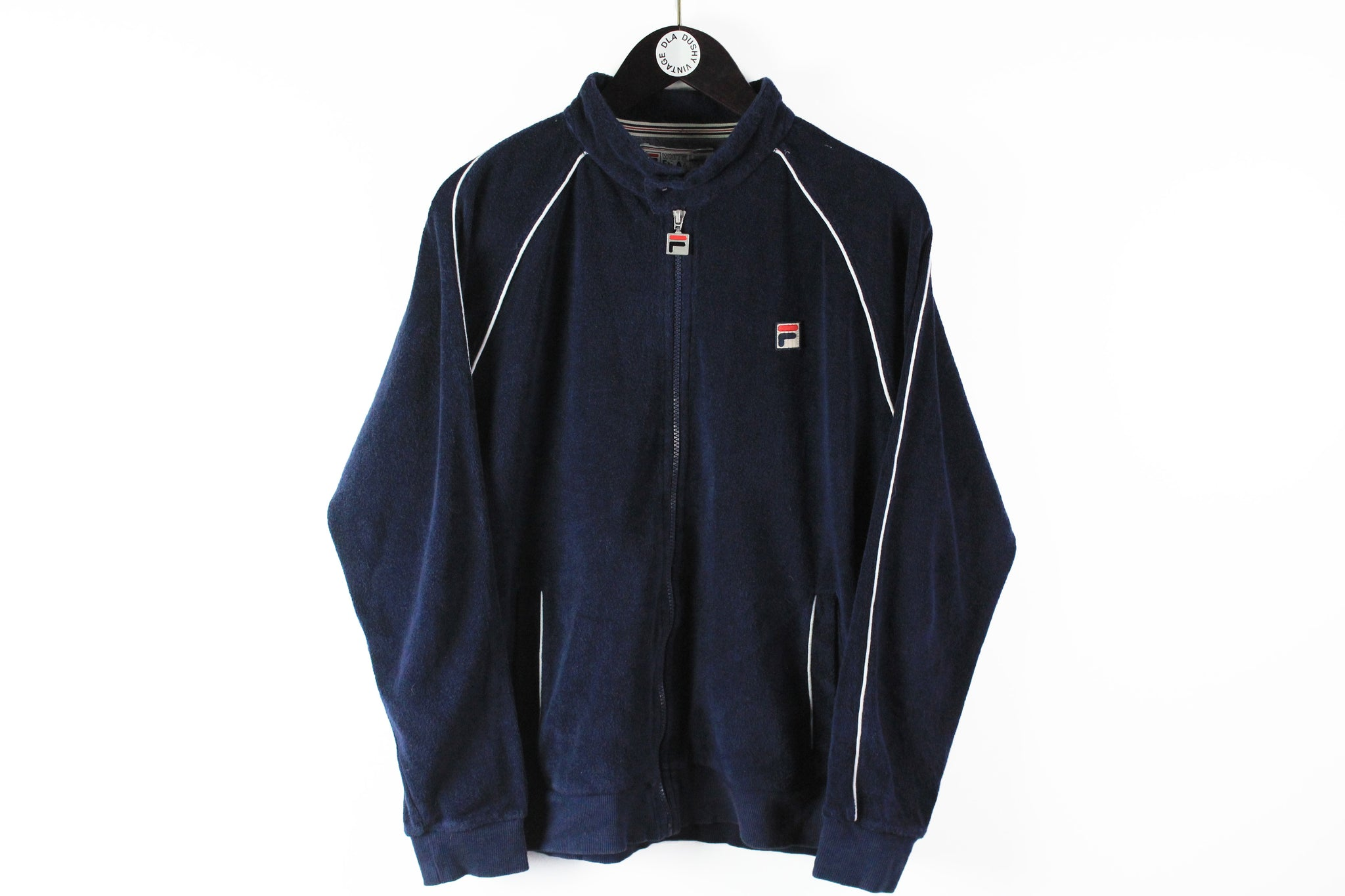 Vintage Fila White Line Track Jacket Large blue 90s full zip