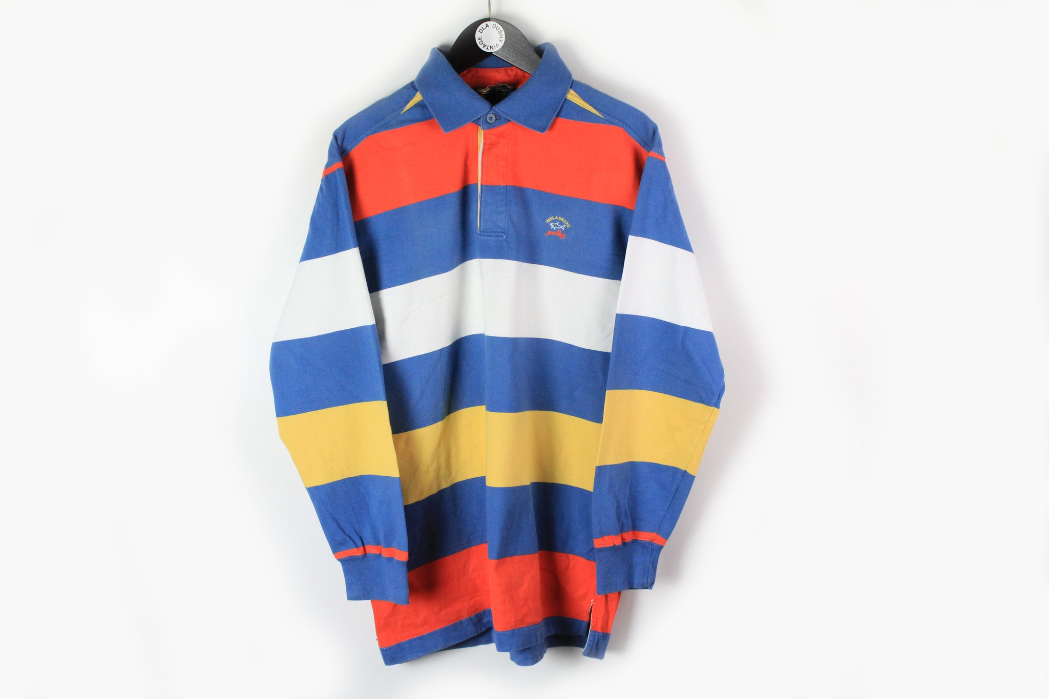 Vintage Paul & Shark Rugby Shirt XLarge multicolor striped 90s sport long sleeve polo t-shirt sweatshirt