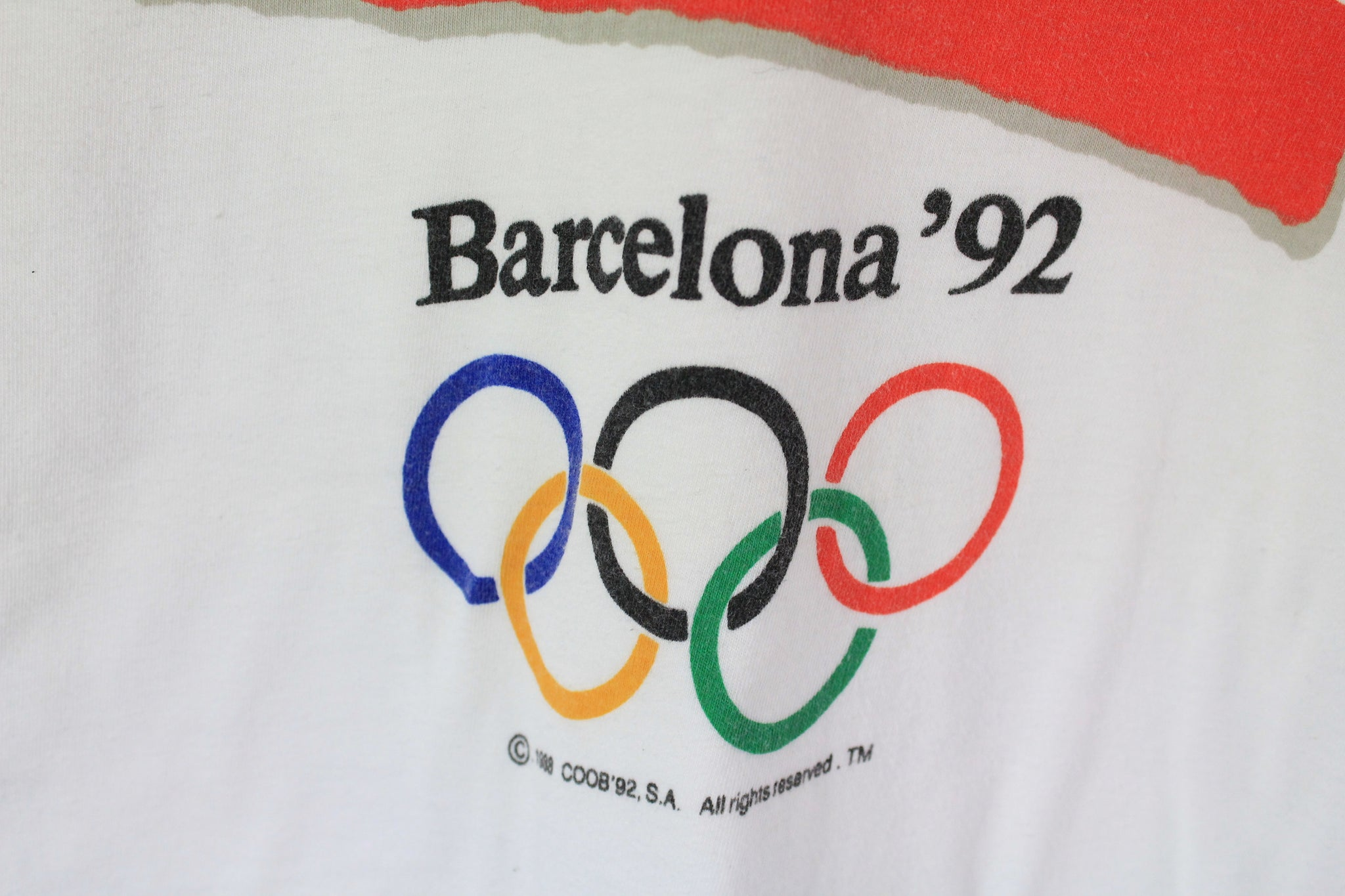 Vintage Barcelona 1992 Olympic Games T-Shirt Large