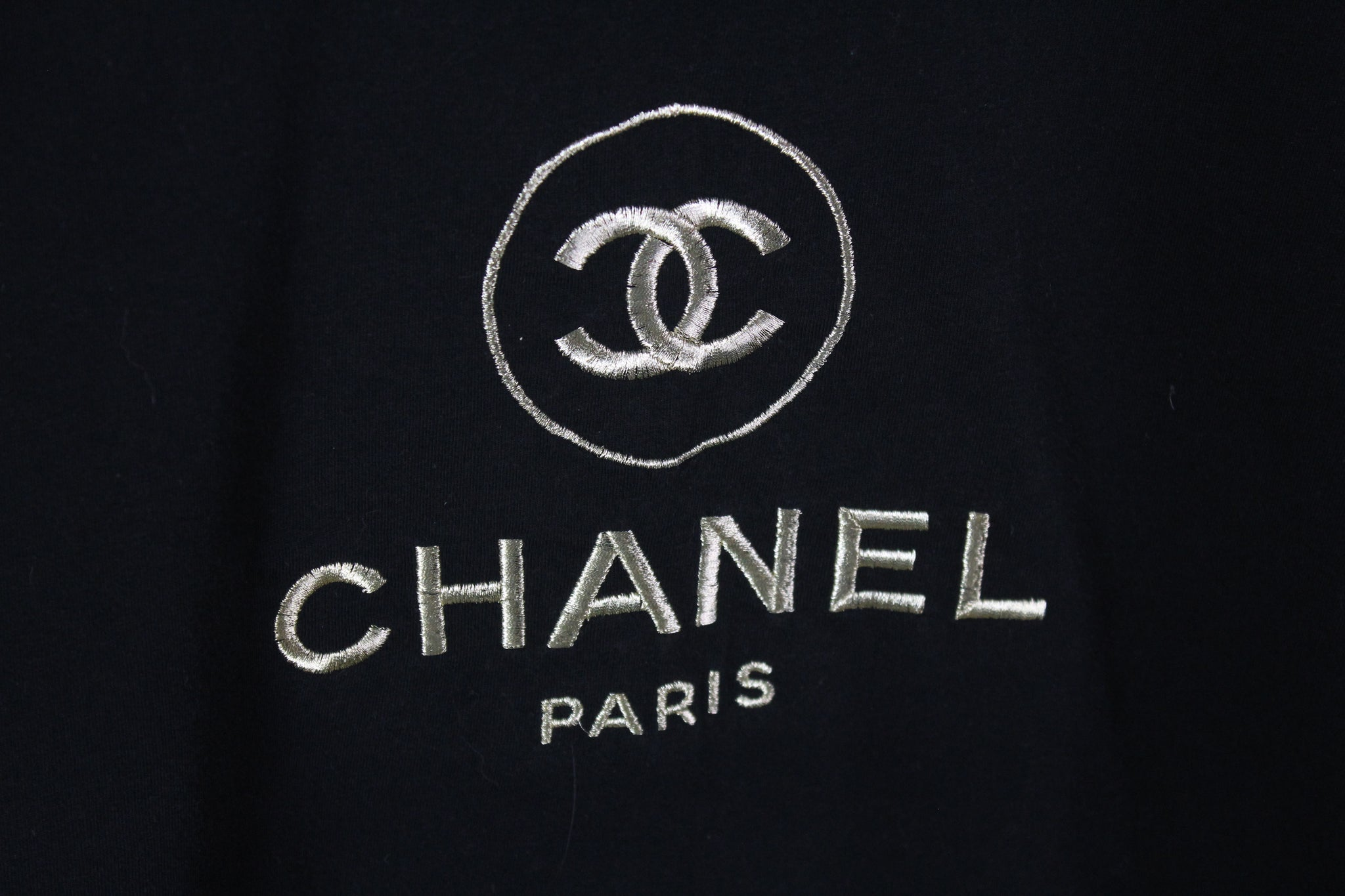 Vintage Chanel Bootleg Big Embroidery Logo Large