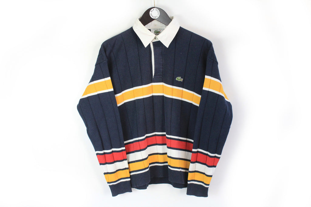 Vintage Lacoste Rugby Shirt Small blue 90s sport retro style France sweatshirt
