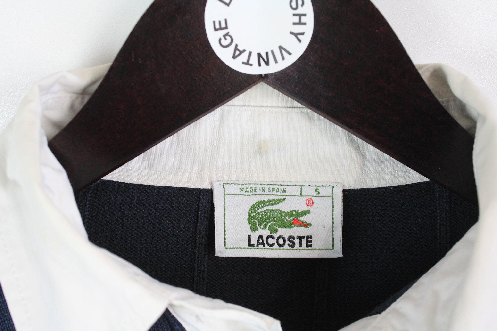 Vintage Lacoste Sweater Rugby Style Small