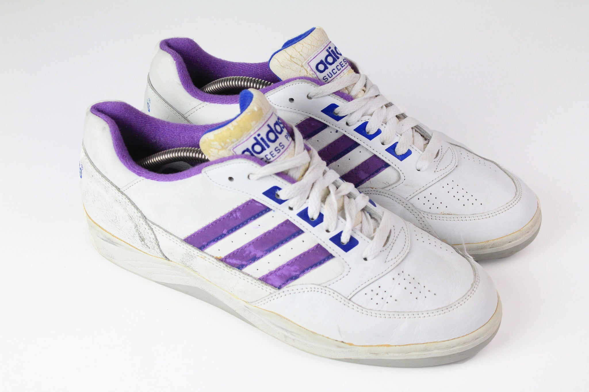 032674 vintage Adidas Success Pro Sneakers white 90s 80s made in Korea retro style tennis shoes