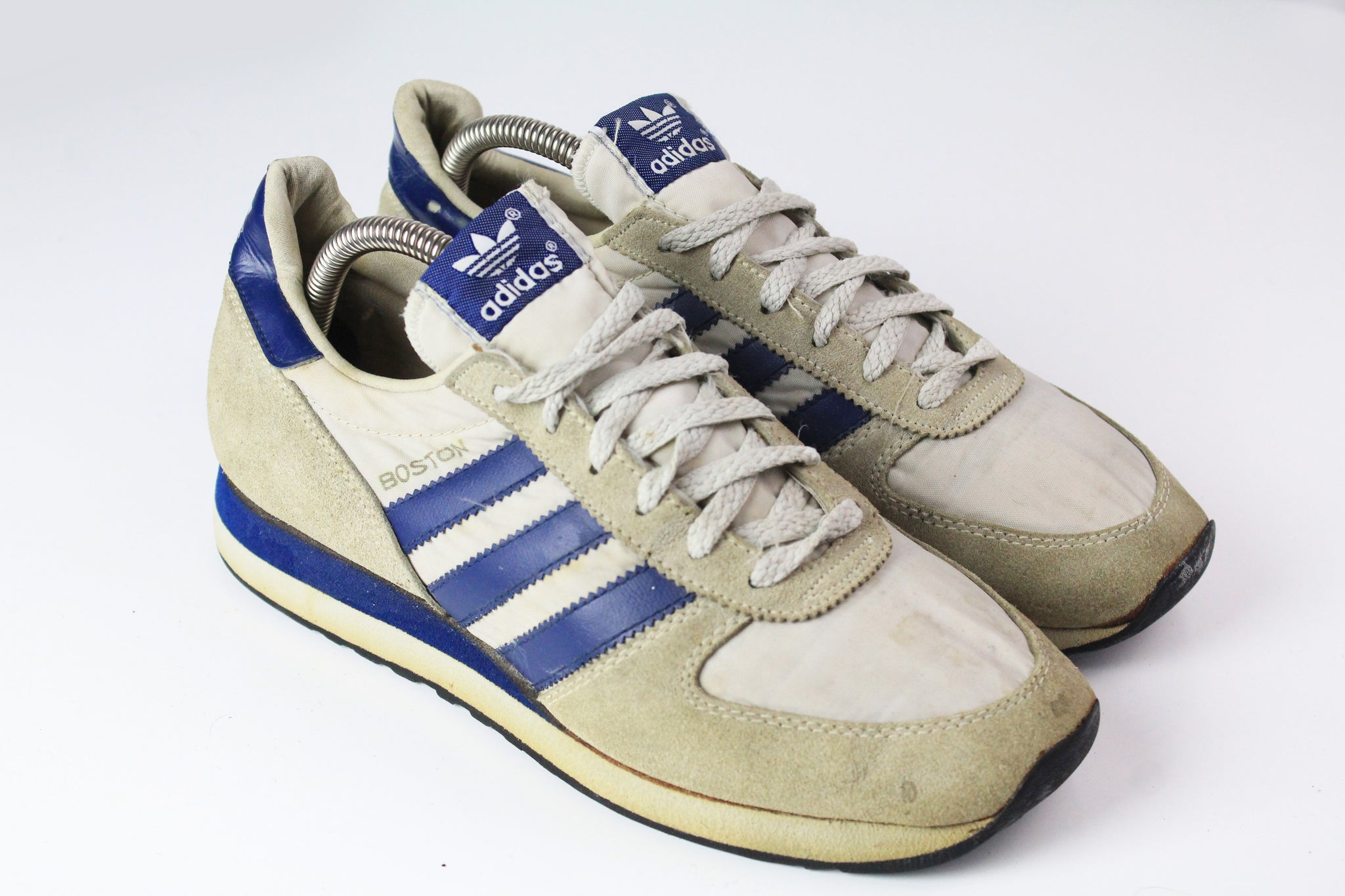 Vintage Adidas Boston Sneakers US 7 made in Taiwan 80s gray blue city series