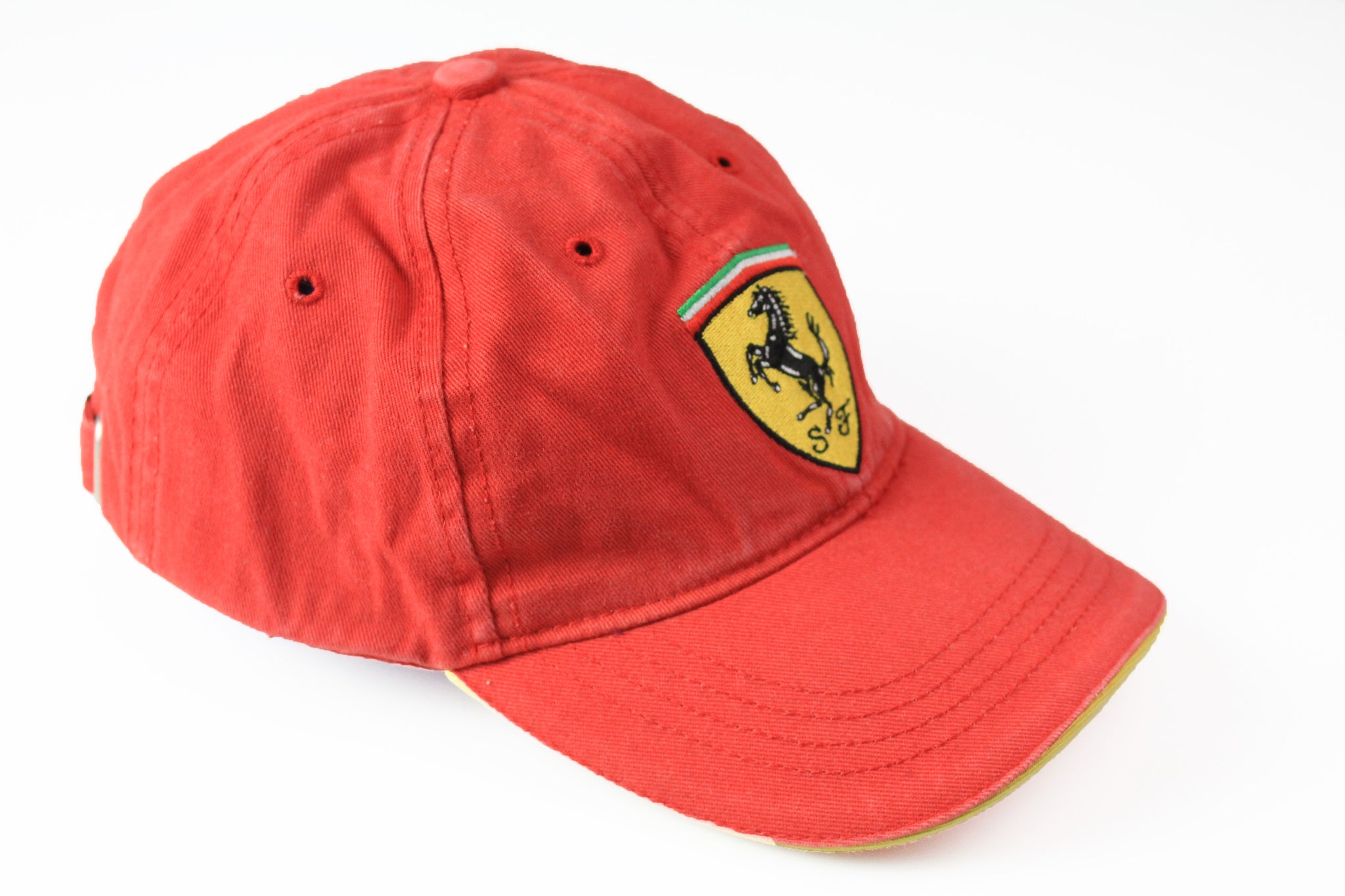 Vintage Ferrari Cap red big logo 90s michael schumacher hat