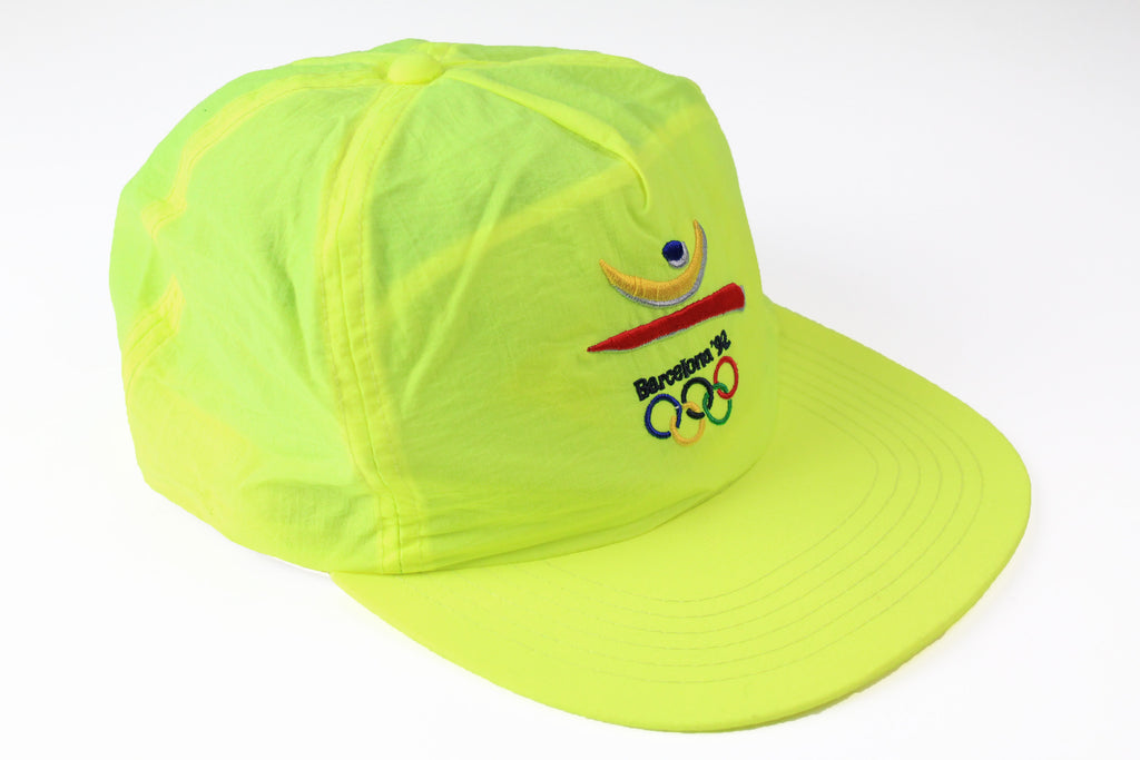 Vintage Barcelona 1992 Olympic Games Cap yellow 90s sport Spain hat