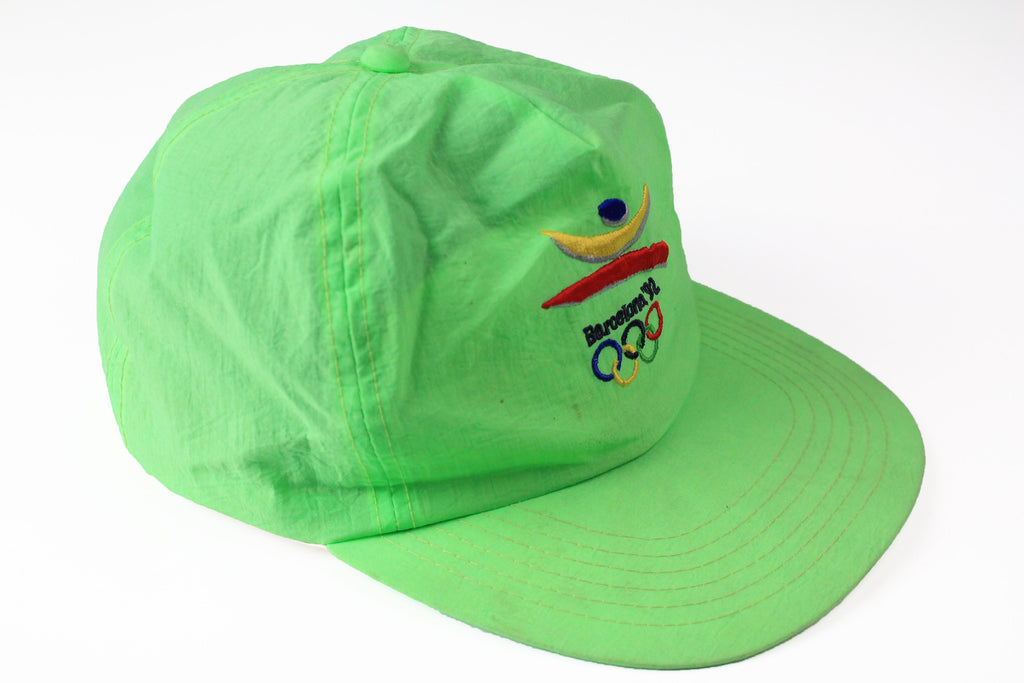 Vintage Barcelona 1992 Olympic Games Cap green 90s sport Spain hat