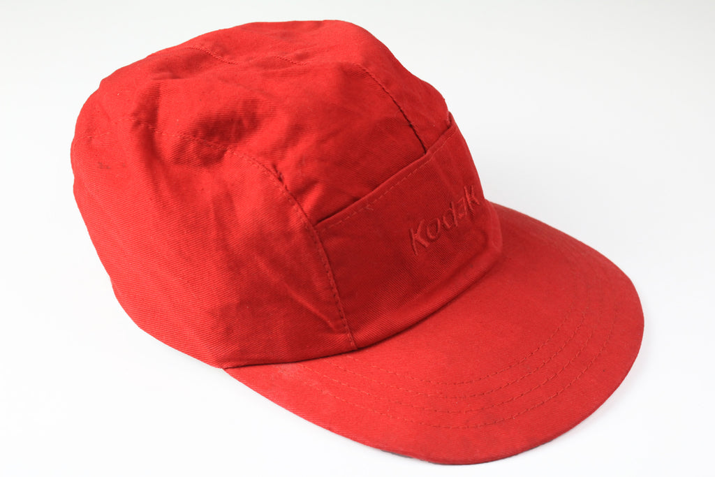 Vintage Kodak Cap 5 pannel red 90s hat