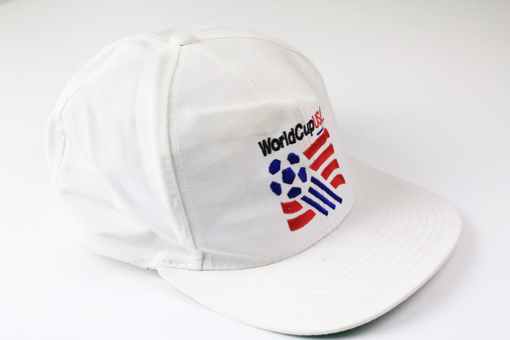 Vintage World Cup 94 USA Cap white 90s sport hat