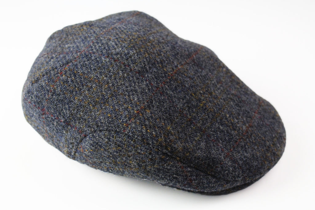 Vintage Harris Tweed Newsboy 90s classic hat gray wool  cap