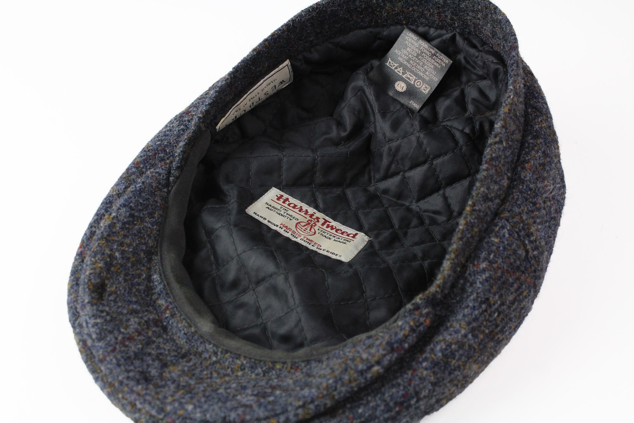 Vintage Harris Tweed Newsboy Hat