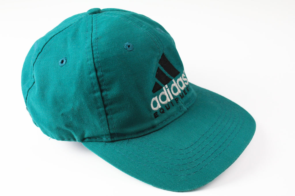 Vintage Adidas Equipment Cap green big logo 90s sport classic Germany style hat