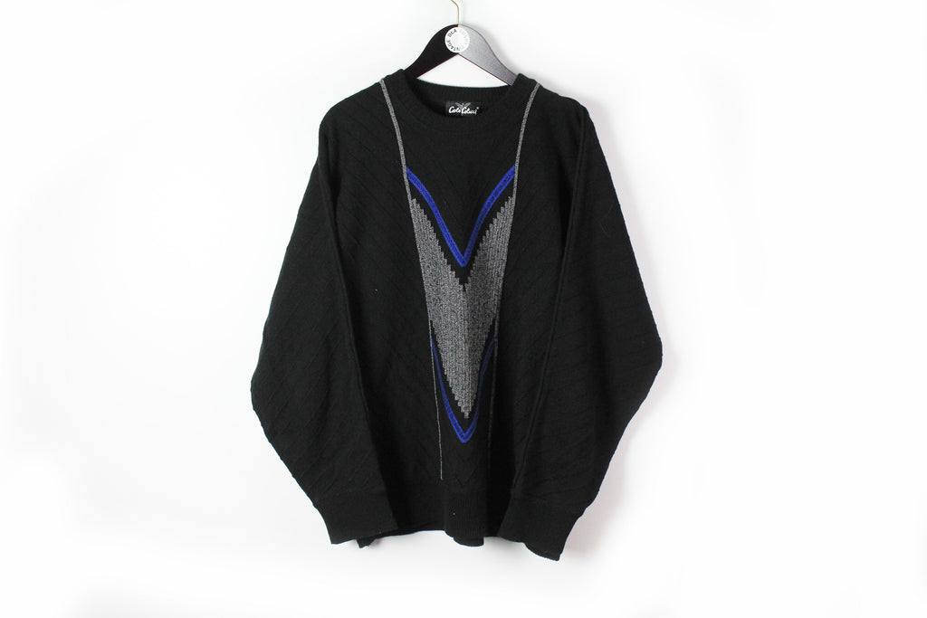 Vintage Carlo Colucci Sweater XLarge / XXLarge black only for Japan Market 90s wool pullover