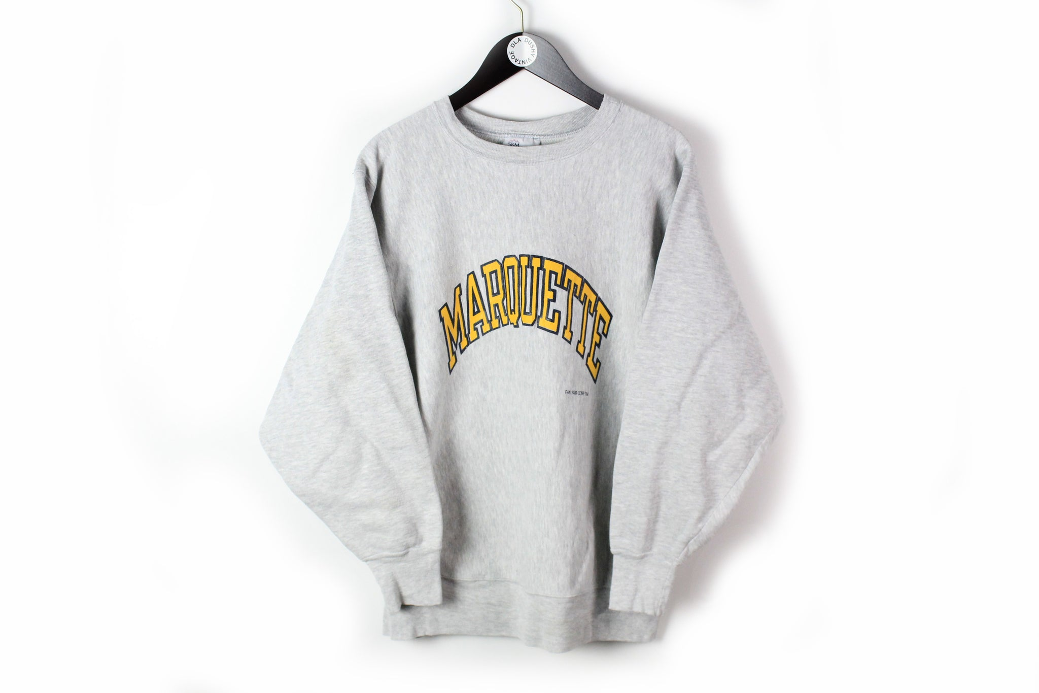 Vintage Marquette Sweatshirt Medium University jumper gray big logo made in USA