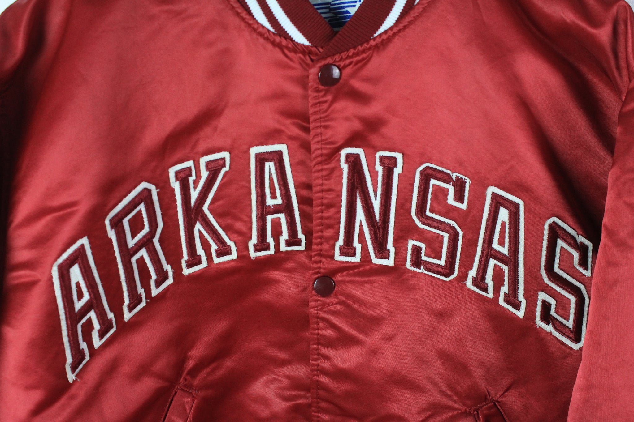 Vintage Razorbacks Arkansas Starter Bomber Jacket Medium / Large