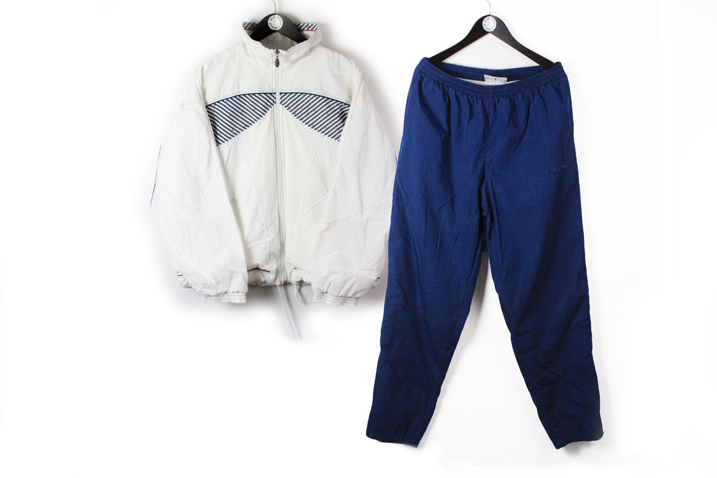 Vintage Lotto Tracksuit Large / XLarge white blue 90s sport tennis style athletic suit