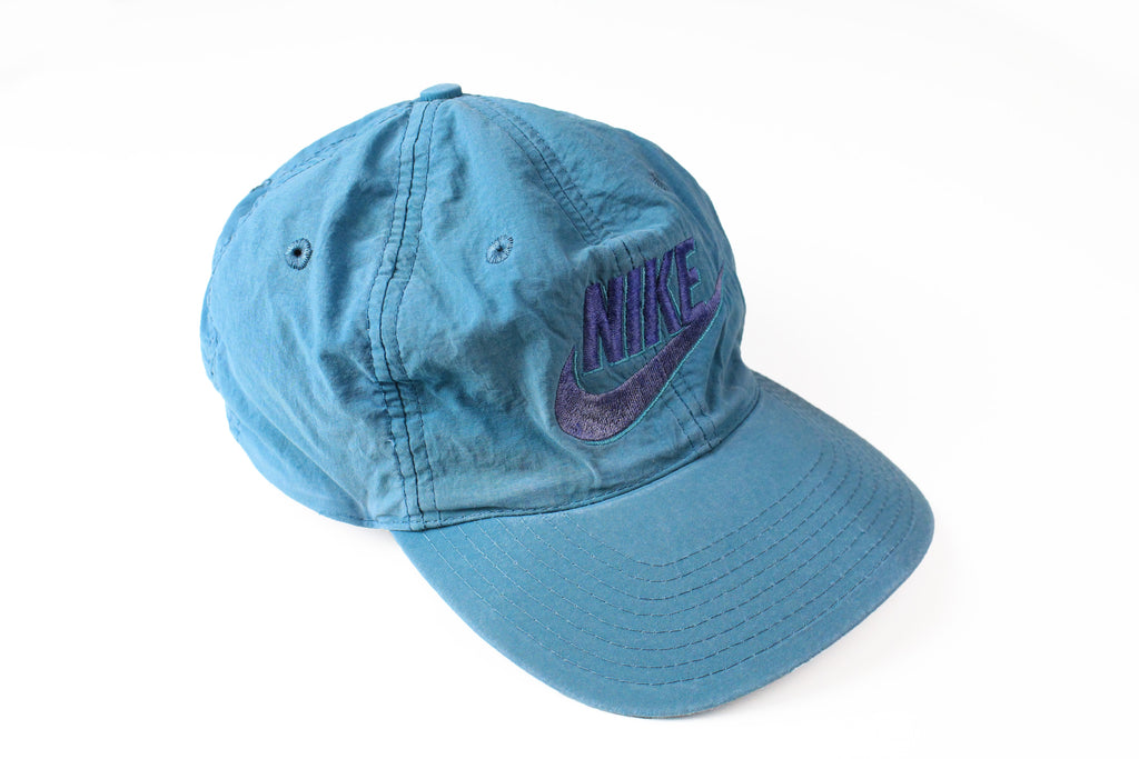 Vintage Nike Cap blue 90s big logo retro hat