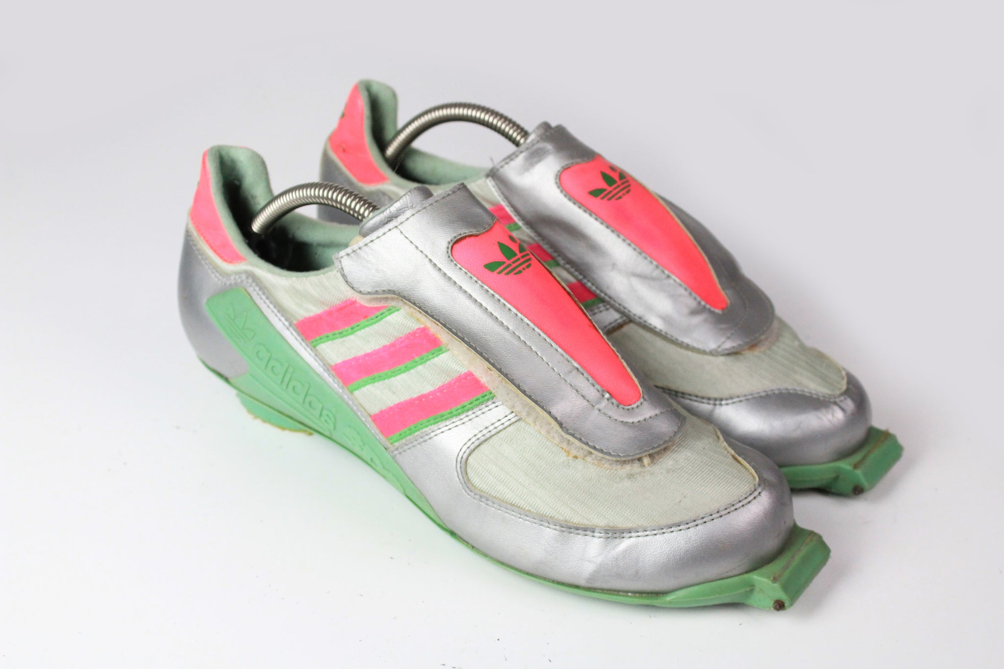 Vintage Adidas SDS Skating Shoes US 9 silver micropacers 80s made in Yugoslavia shoes