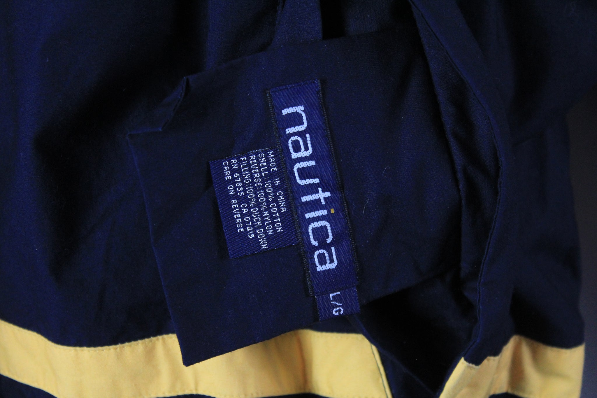 Vintage Nautica Puffer Double Sided Jacket Large