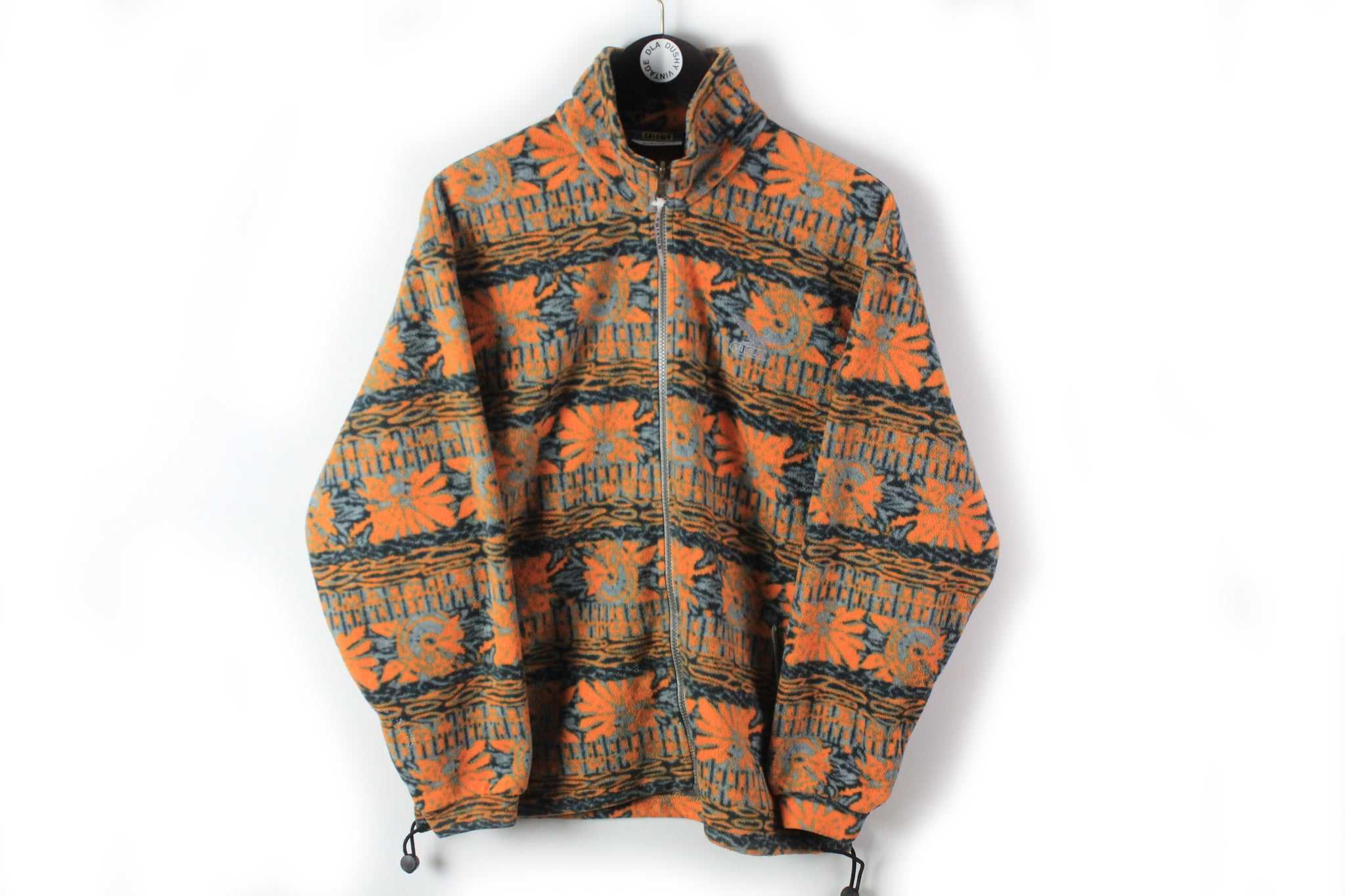 Vintage Salewa Fleece Full Zip Medium orange outdoor multicolor 90s ski sweater