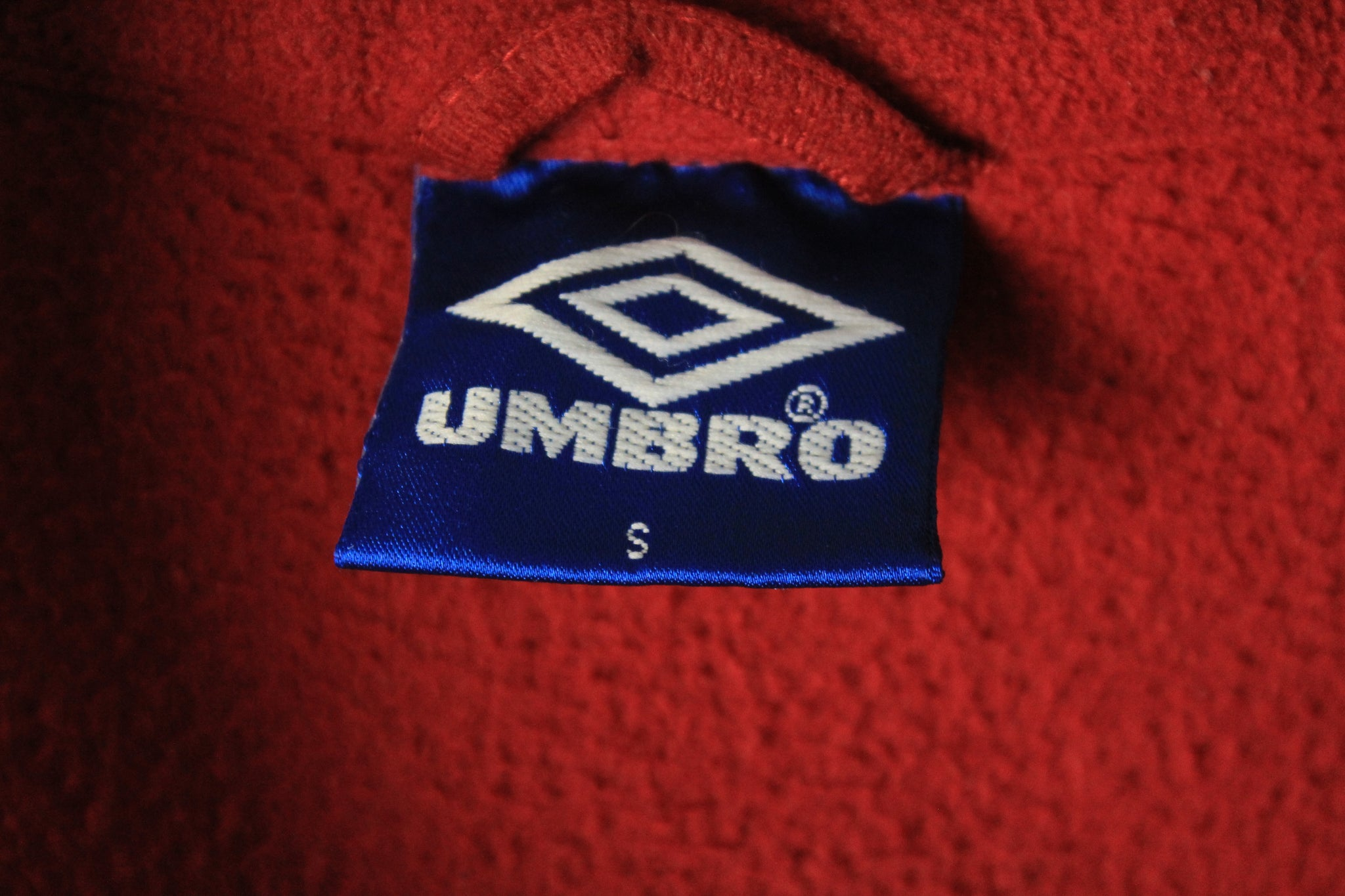 Vintage Umbro Fleece Half Zip Small