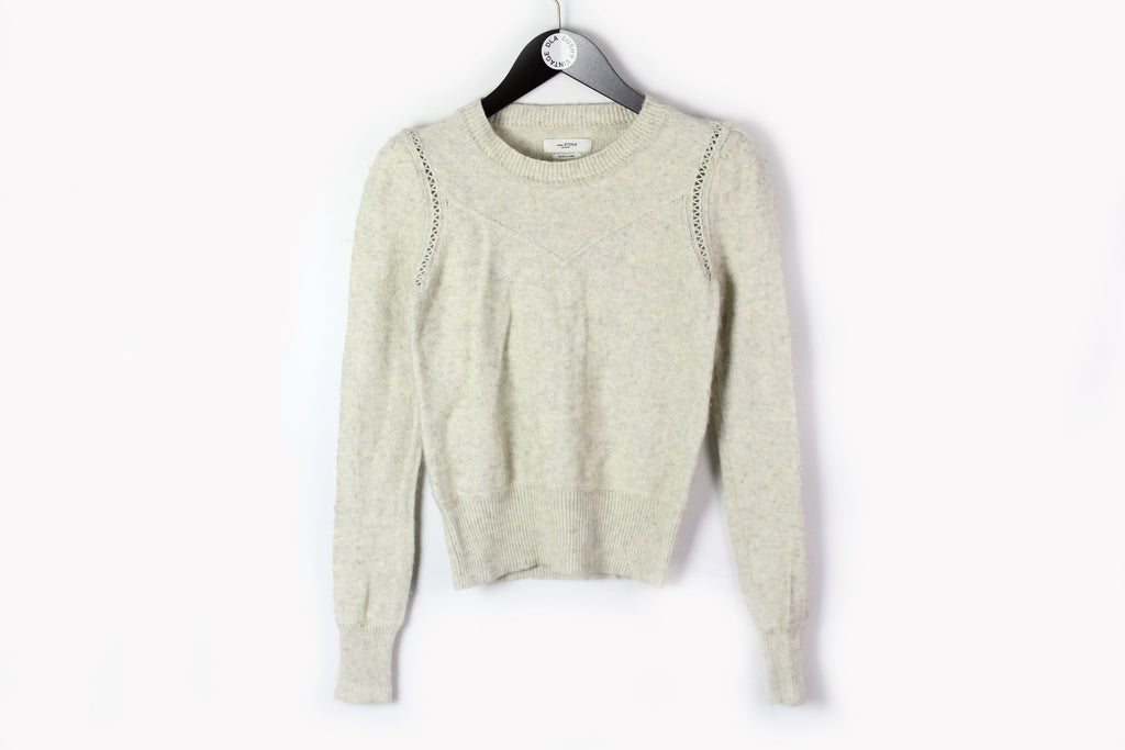 Isabel Marant Sweater Women's 44 Etoil wool soft pullover white