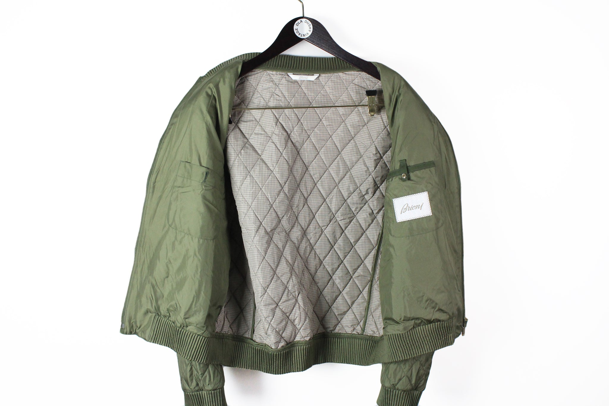 Brioni Quilted Bomber Jacket XXLarge