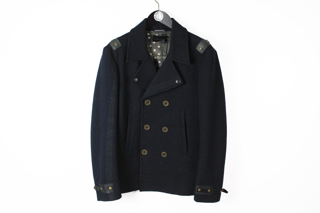 Diesel Black Label Coat Large navy blue