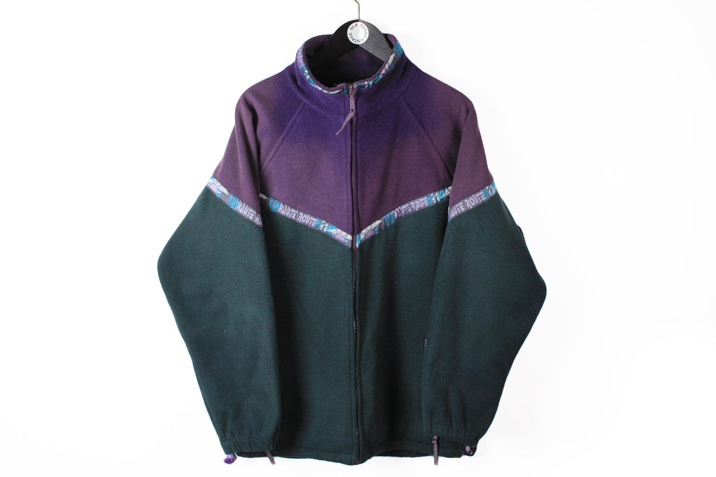Vintage Mammut Fleece Full Zip XLarge black purple 90s outdoor sweater