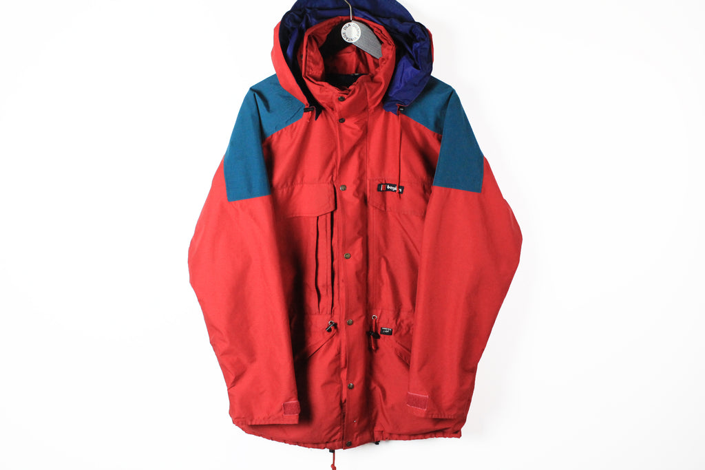Vintage Berghaus Jacket Medium red Gore-Tex 90s windbreaker hooded