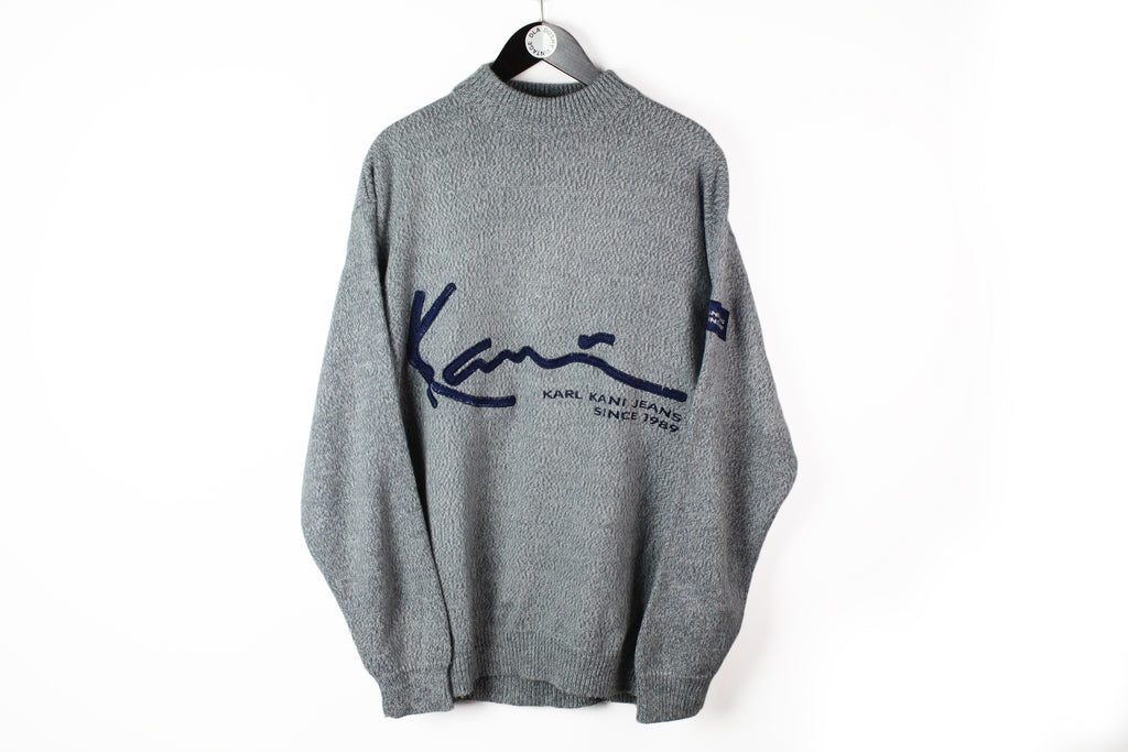 Vintage Karl Kani Sweater XLarge gray 90's sports wear crewneck pullover