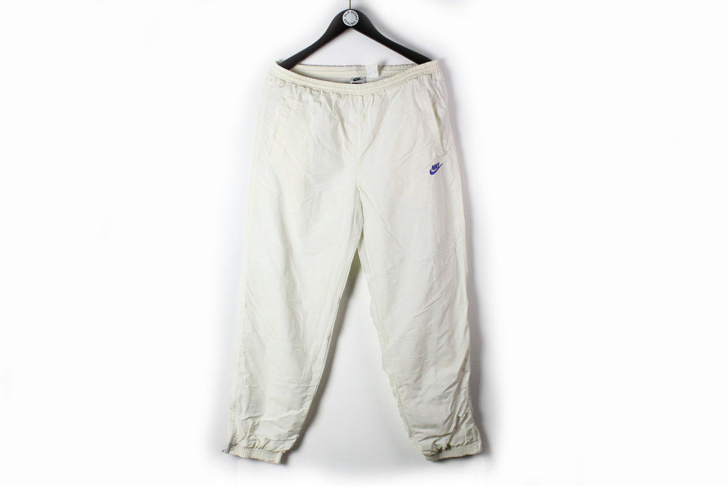 Vintage Nike Challenge Court Track Pants XLarge white 90s tennis sport trousers
