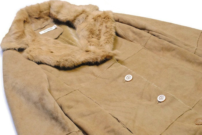 Vintage Balmain Sheepskin Style Coat Women's Medium