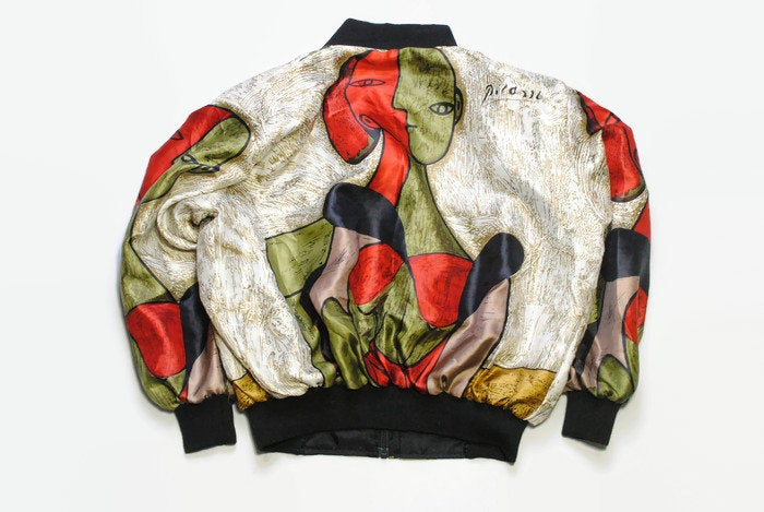 Vintage Picasso Bomber Jacket Women's Medium