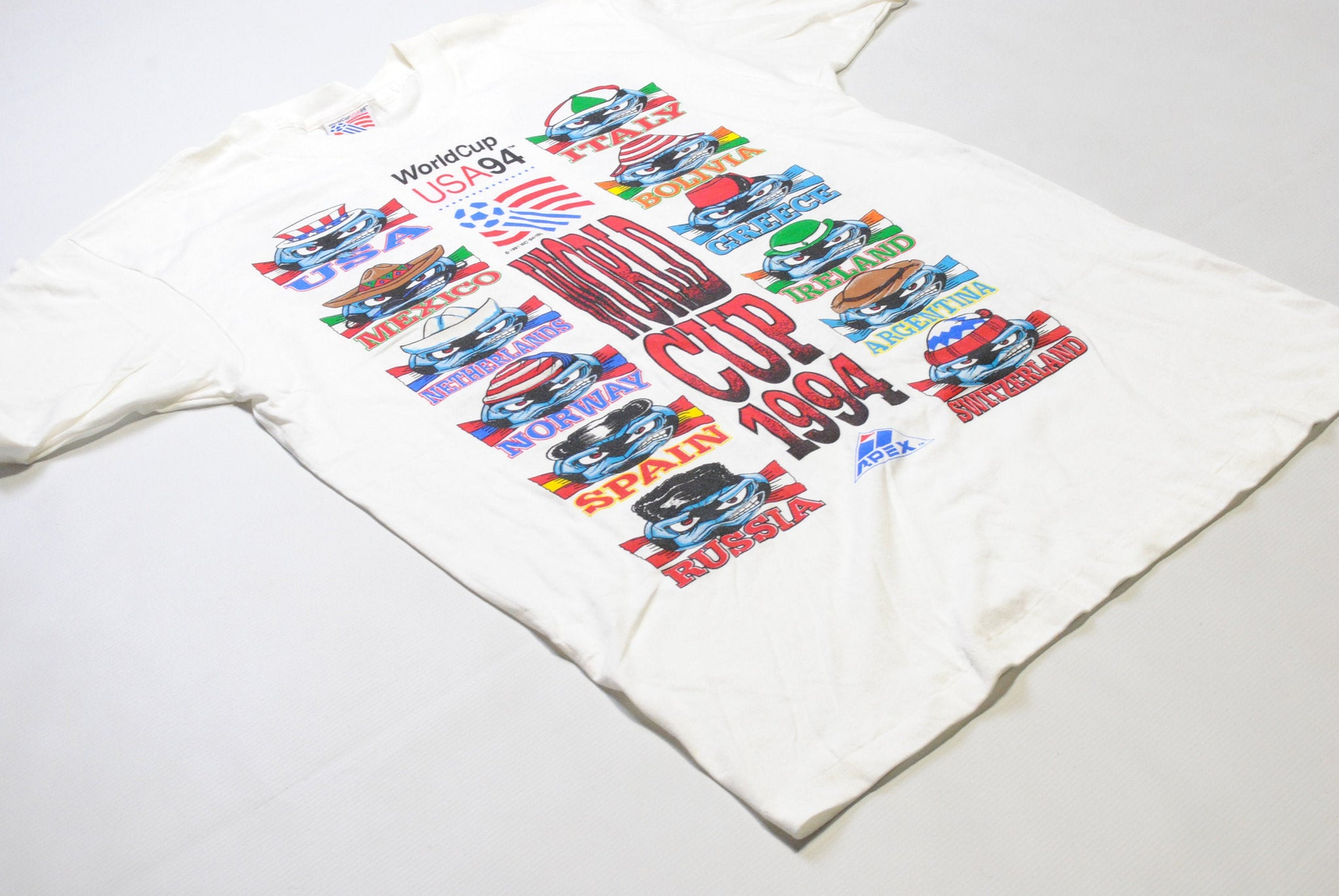 Vintage World Cup 94 USA Apex One T-Shirt XLarge