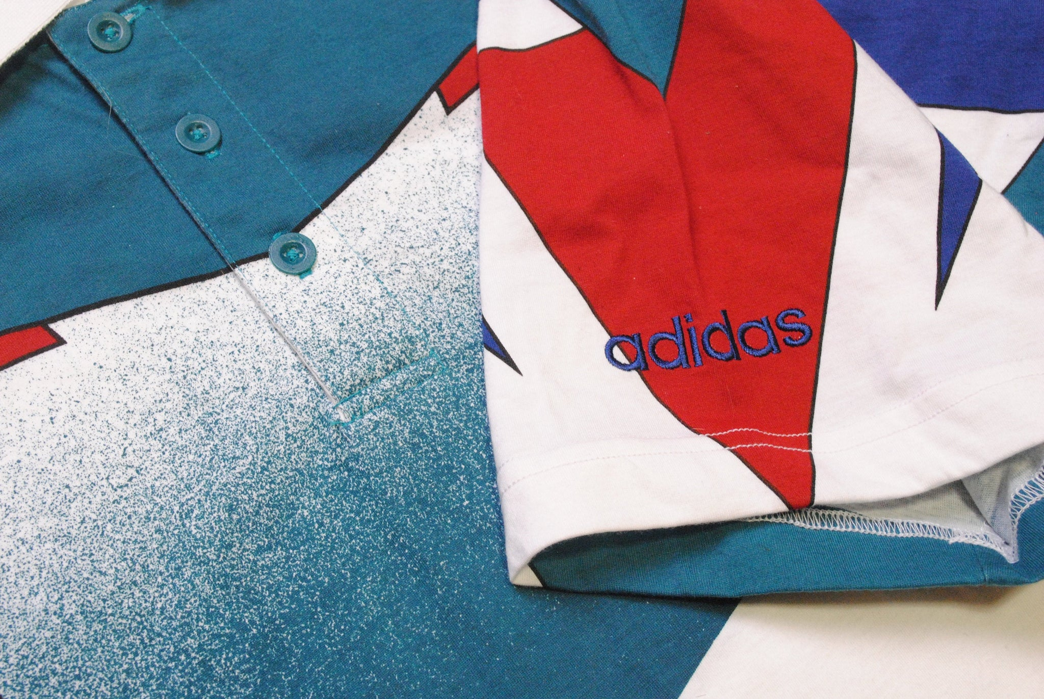 Vintage Adidas Polo T-Shirt Medium / Large