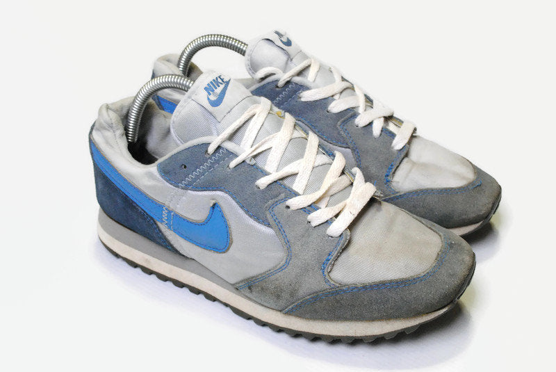 vintage NIKE WAFFLE Trainer AC Airliner Sneakers authentic athletic shoes Size US7 men's retro sport 90s 80s casual streetwear gray blue
