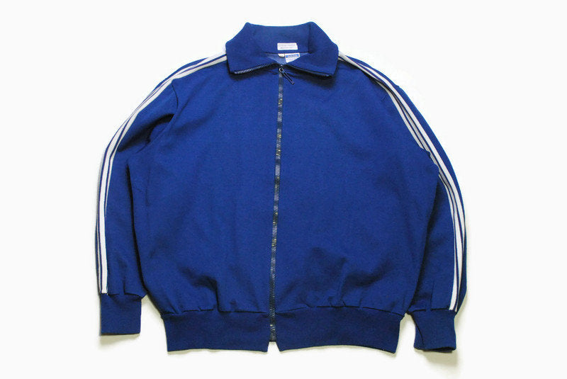 vintage ADIDAS ORIGINALS classic blue Track Jacket Size M authentic rare retro wear hipster 80s made in Yugoslavia rave athletic sport suit