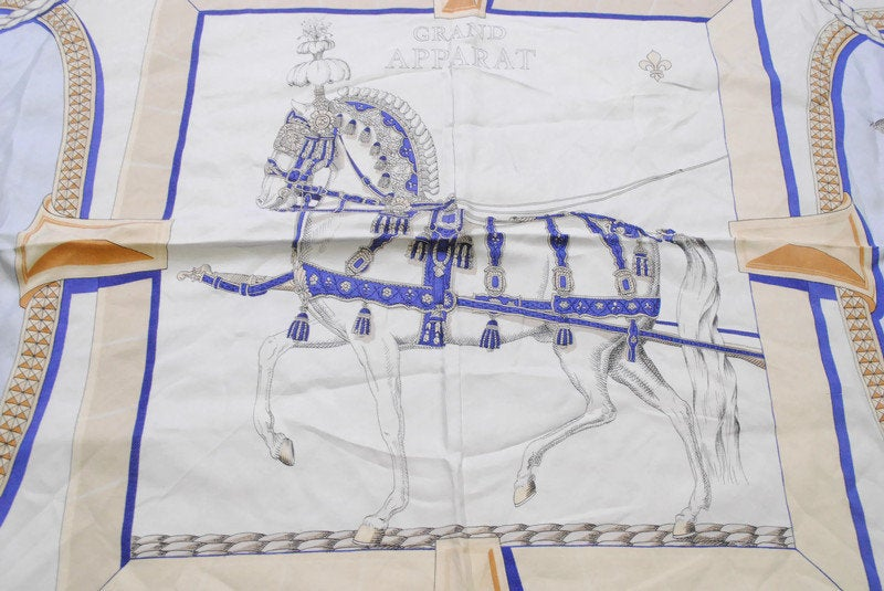Vintage Hermes Grand Apparat by Jacques Eudel Scarf