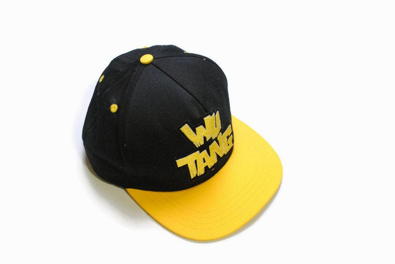 vintage WU TANG CLAN Wear brand hat big logo cap Hip Hop black yellow retro authentic 90s 80s summer visor deadstock limited rare snap cap