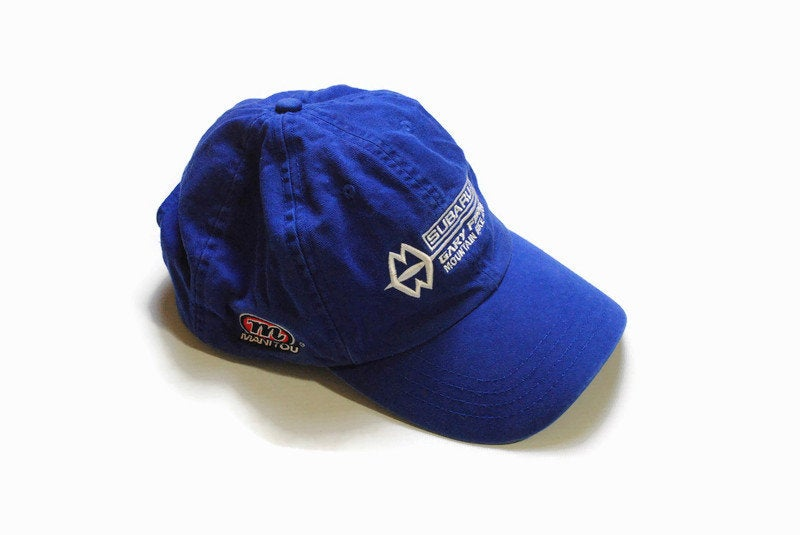 vintage NIKE ACG SUBARU Gary Fisher Mountain Bike Team Shimano hat big logo cap hipster retro authentic blue summer sun visor classic fit