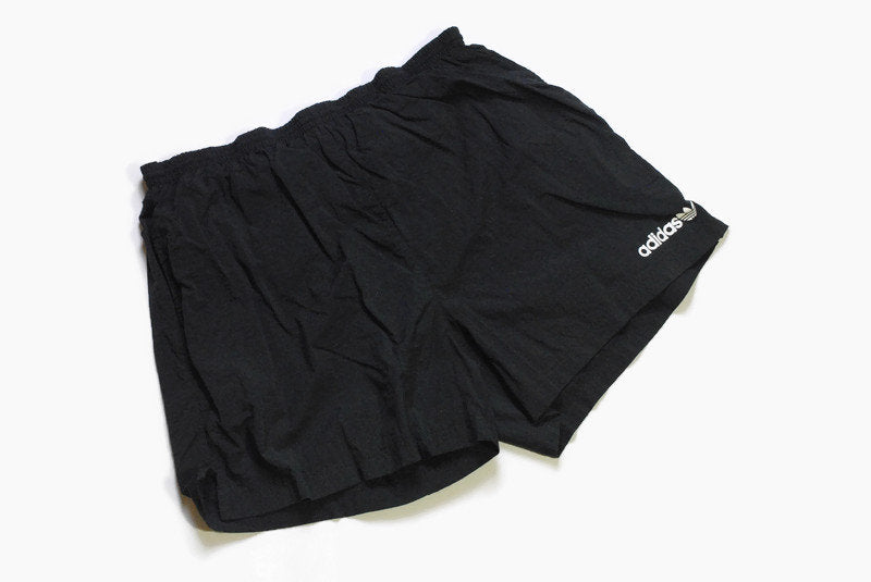vintage ADIDAS track shorts SIZE L black the brand with the three strips authentic 90's 80's suit sport germany style unique summer outfit