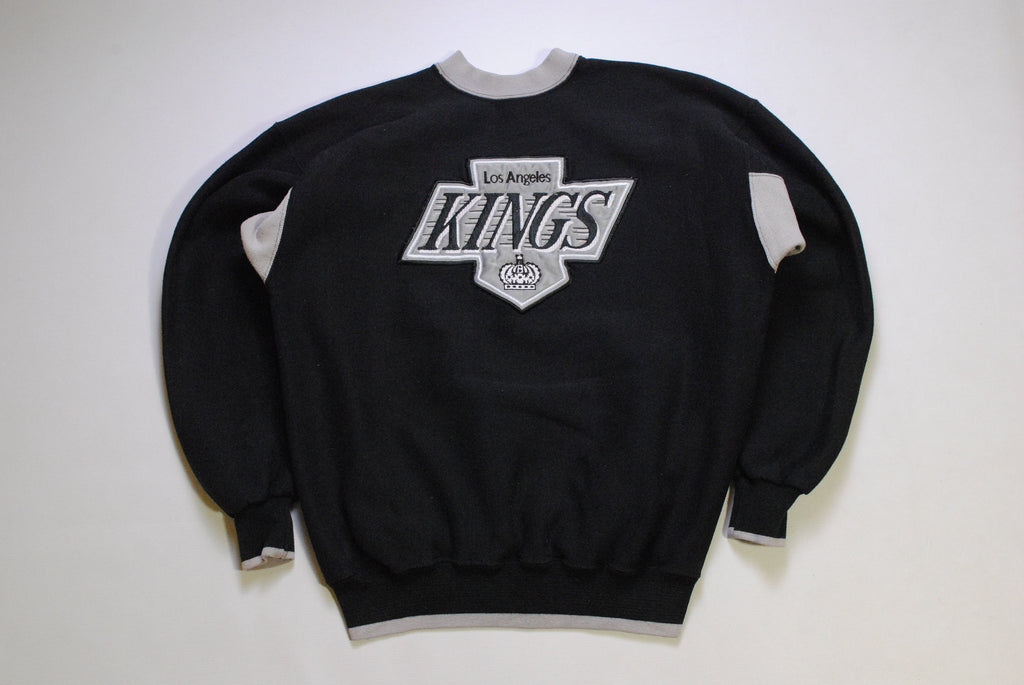 vintage KINGS Los Angeles sweatshirt sport NHL gray black big logo Hockey authentic Size L mens 90s made in USA Sport retro wear fun jumper
