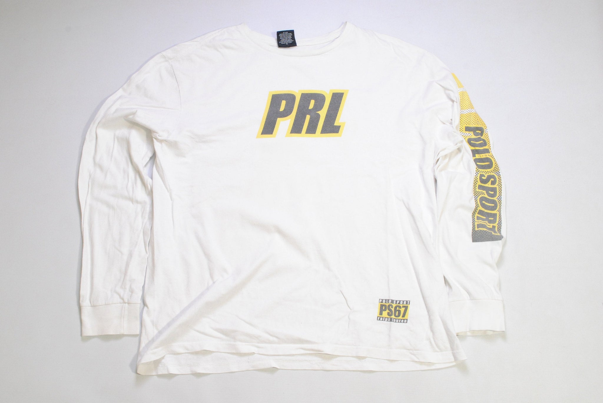 vintage POLO SPORT by Ralph Lauren PRL sweatshirt long sleeve t-shirt big logo rare shirt Retro Size L authentic light sweater 90s hipster