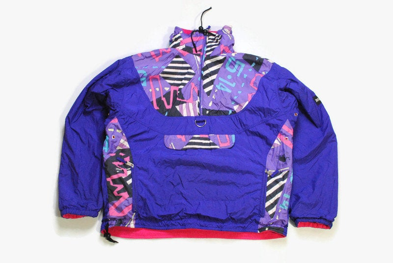 vintage MAMMUT Couloir double side Anorak Jacket Fleece multicolor retro hipster wear men's 90's 80's sweater abstract pattern style print