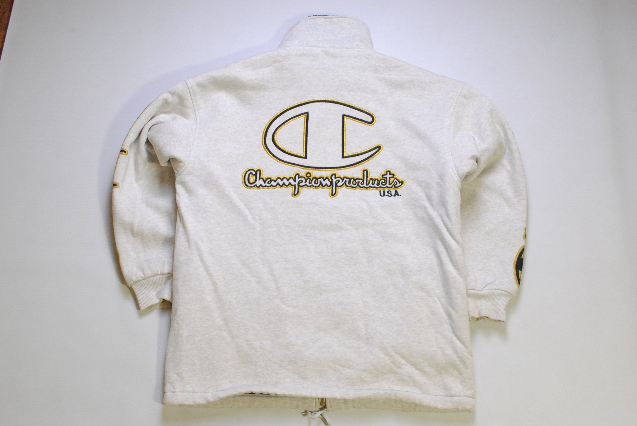 Vintage Champion USA Zip Sweatshirt Medium